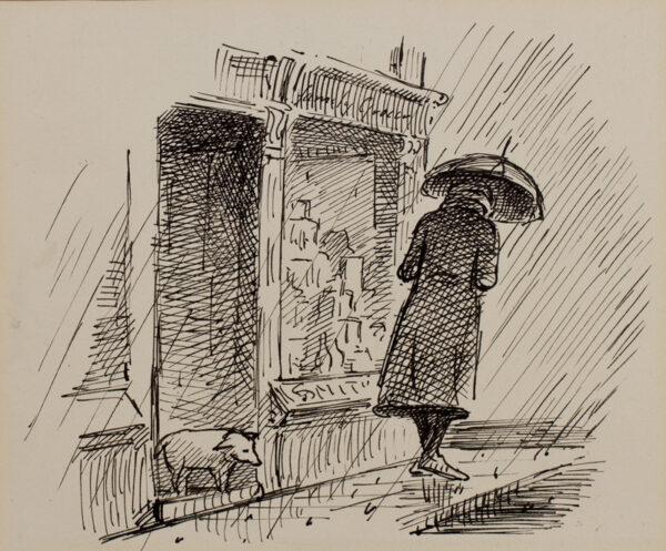 ARDIZZONE Edward C.B.E. R.A. (1900-1979) - 'Mrs Golightly'.