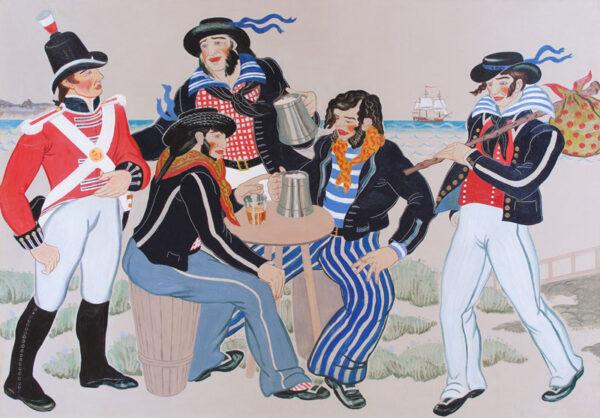 ARMOUR Mary R.S.A. R.S.W. (1902-2000) - 'Sailors Ashore'.