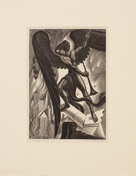 ARTZYBASHEFF Boris (American b.1912) - 'The Last Trumpet'.