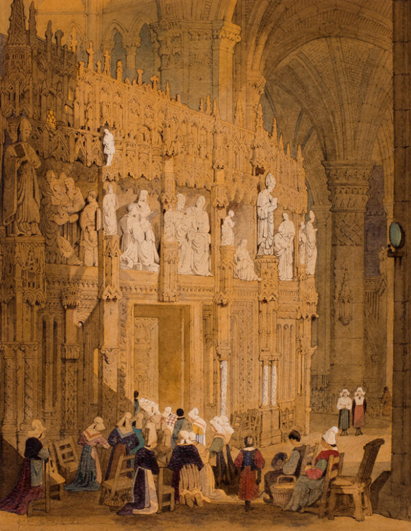 ASHBURNHAM George Percy (c.1815-1886) - Interior of a Northern French Cathedral.