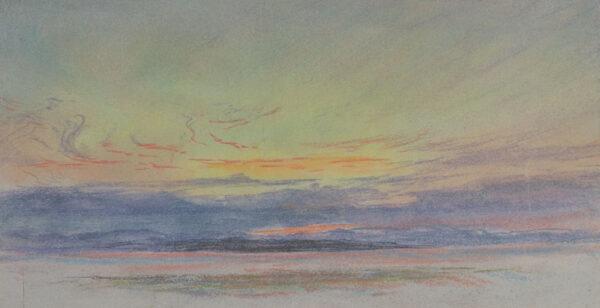 ASTON Charles Reginald R.I. (1832-1908) - Krakatoa sky.