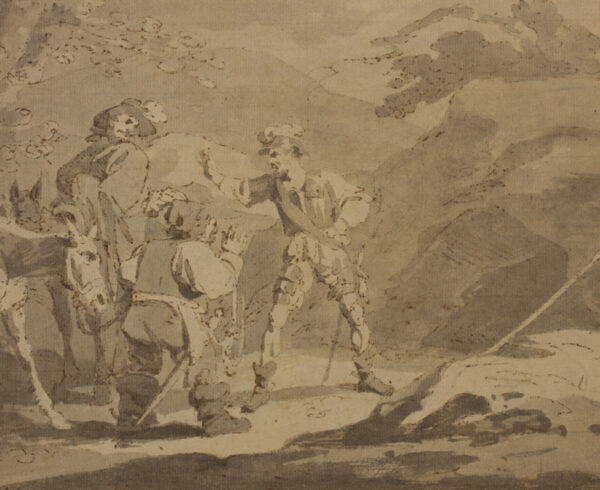 ATKINSON John Augustus O.W.S. (c.1775-c.1833) - Don Quixote and Sancho Panza having a ferocious argument.