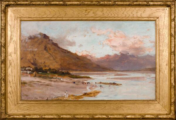 AUMONIER James R.I. (1832-1911) - Sketch for 'River Piave, R.