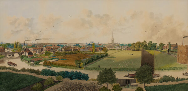AUSTIN William Frederick (1833-1899) - Norwich from Ketts Hill.