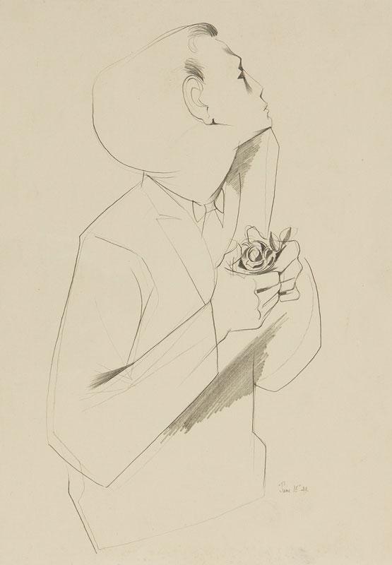 AYRTON Michael (1921-1975) - 'Boy with rose'.