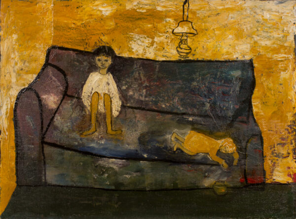 BAINBRIDGE Dame Beryl (1932-2010) - Children on a sofa.