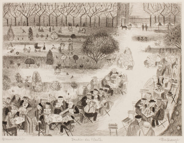BALKANYI Suzanne (1922-2005) - 'Jardin des Plantes'.