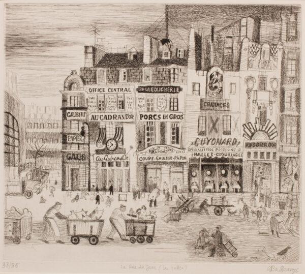 BALKANYI Suzanne (1922-2005) - 'La Rue du Jour (Les Halles)'.