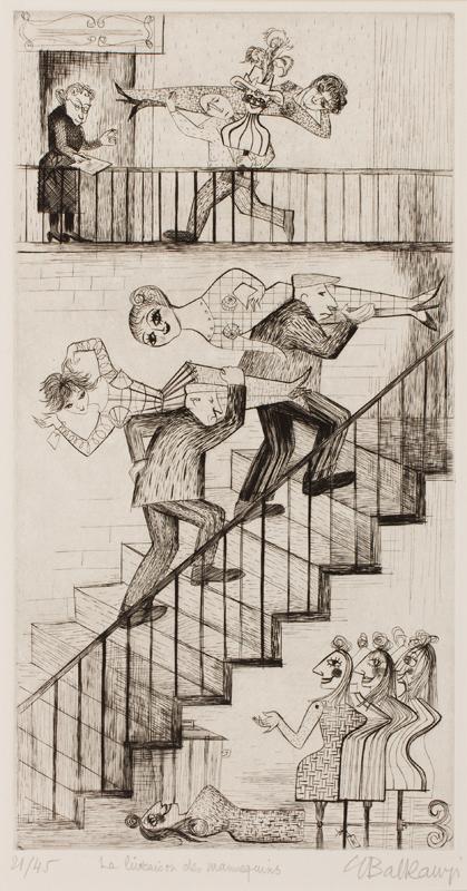 BALKANYI Suzanne (1922-2005) - 'La livraison des mannequins'.