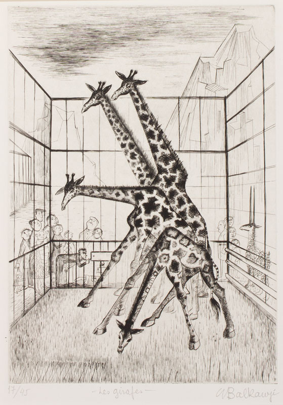 BALKANYI Suzanne (1922-2005) - 'Les Girafes'.