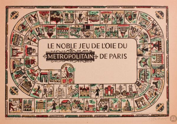 BALKANYI Suzanne (1922-2005) - 'Le Nobile Jeu De L'oie Du Metropolitan De Paris'.