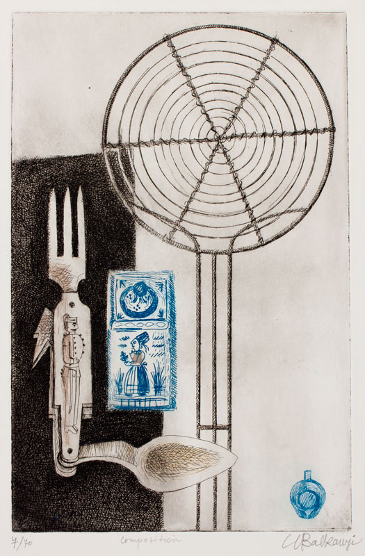 BALKANYI Suzanne (1922-2005) - 'Composition'.