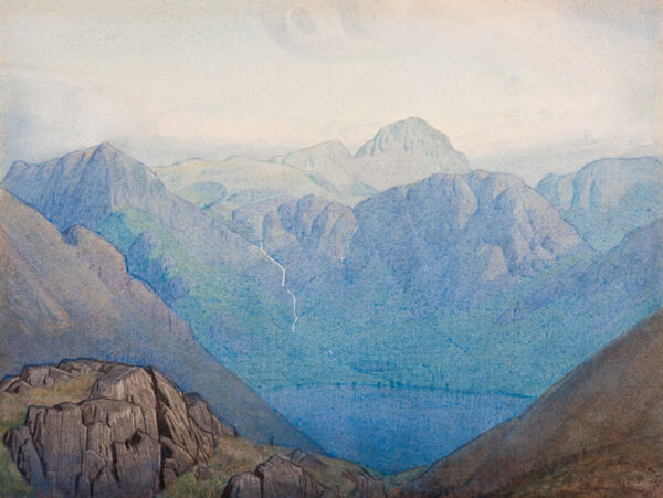 BANNER Delmar Harmood (1896-1983) - 'View over Buttermere to Great Gable'.