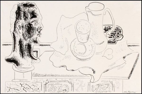 BANTING John (1902-1972) - Still-life with bust and carafe.