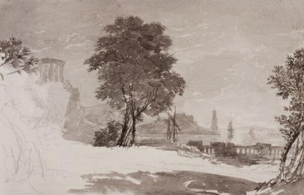 BATTY Lieutenant-Colonel RobertF.R.S. (1789-1848) - Capriccio landscape.