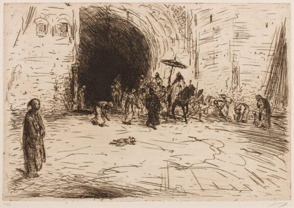 BAUER Marius (1867-1932) - The City Gates.