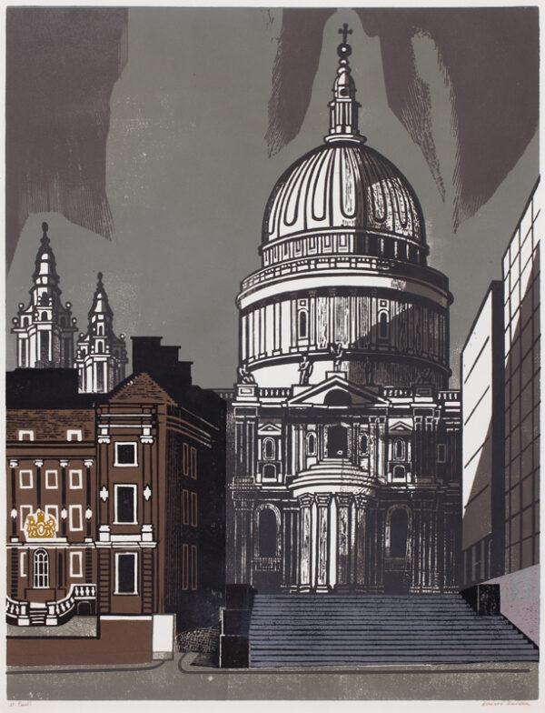 BAWDEN Edward C.B.E. R.A. (1903-1989) - 'St Pauls'.
