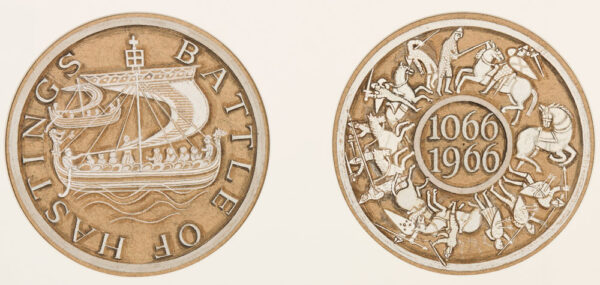 BAWDEN Edward C.B.E. R.A. (1903-1989) - 'Battle of Hastings / 1066'; roundel designs for a 1966 Medal to commemorate the Battle.