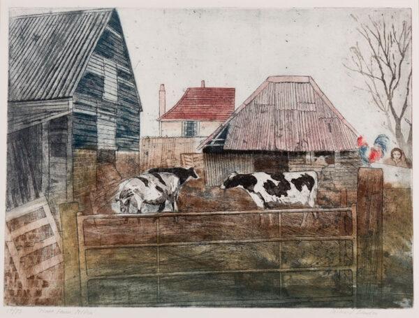 BAWDEN Richard R.W.S. N.E.A.C. R.E. (b.1936) - 'Home Farm, Peldon'.