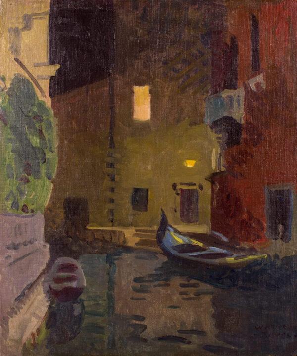 BAYES Walter (1869-1956) - 'Venice at night'.