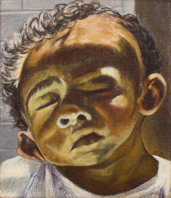 BEAUCHAMP Charles (b.1949) - 'Child's Head'.