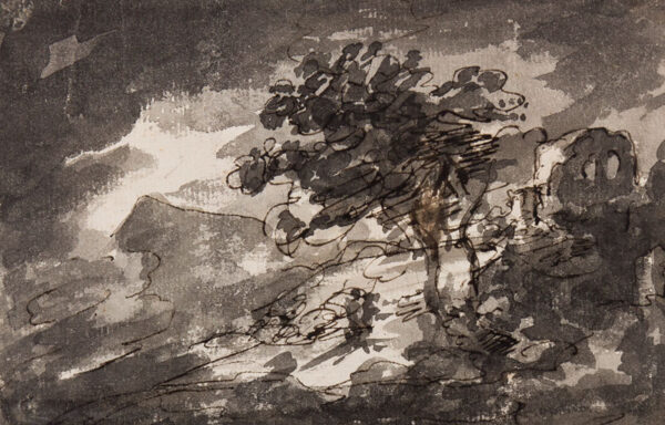 BEAUMONT Sir George (1753-1827) - Stormy landscape.
