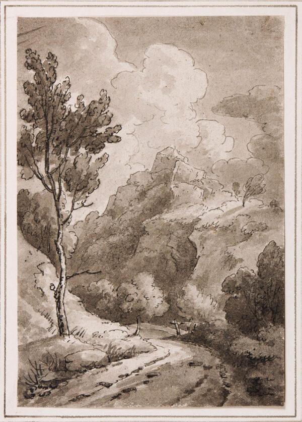 BECKER Ferdinand (Ex. Edmund) (fl.1790-1810) - 'On the Llugwy, 1811'.