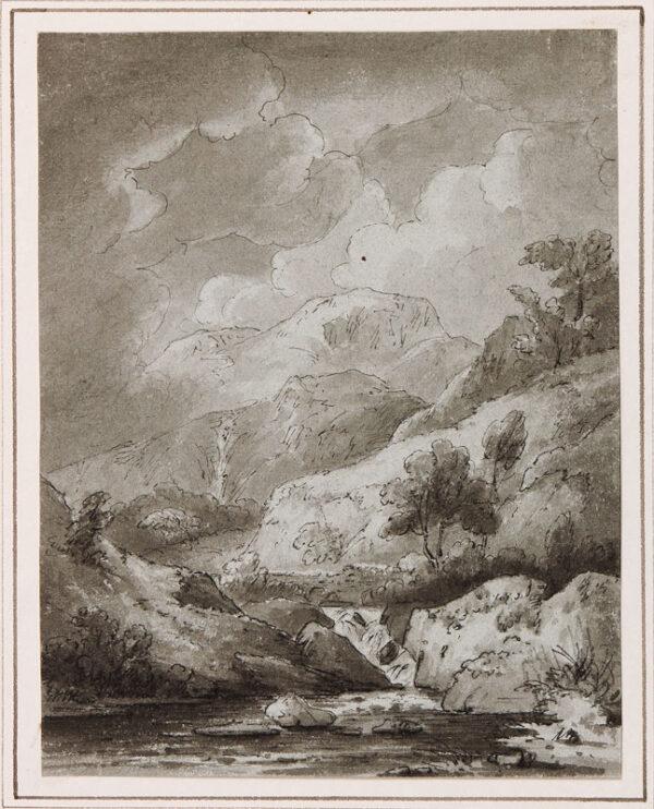 BECKER Ferdinand (Ex. Edmund) (fl.1790-1810) - 'Near Rhaider y Wennol, 1811'.