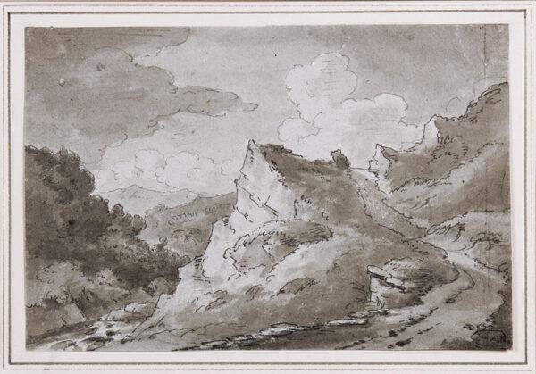 BECKER Ferdinand (Ex. Edmund) (fl.1790-1810) - 'On the Lleder, 1811'.