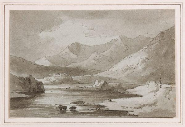 BECKER Ferdinand (Ex. Edmund) (fl.1790-1810) - 'At Capel Cerig' (sic).