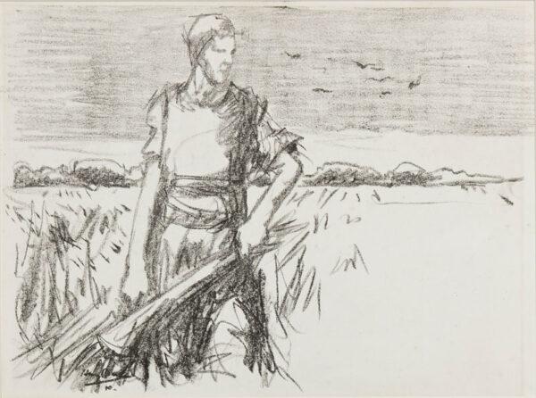 BECKER Harry (1865-1928) - The harvester.