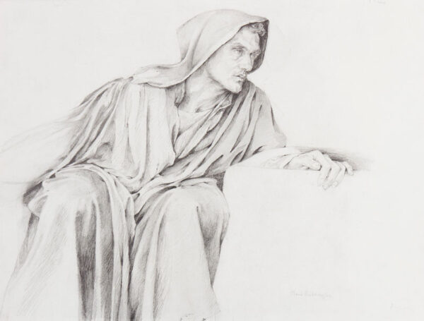 BEDDINGTON Maud (Exh: 1895-1922) - Cloaked figure.