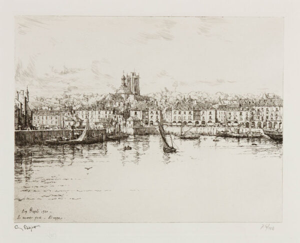 BEJOT Eugene (1867-1931) - 'L'avant Port, Dieppe'.