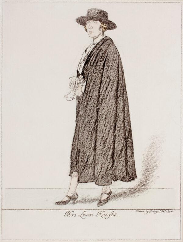 BELCHER George R.A. (1875-1947) - 'Mrs Laura Knight'.