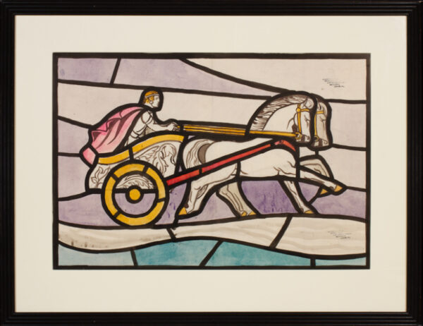 BELL Reginald Otto (1886-1950) - 'The Charioteer'; stained glass cartoon for a Clayton and Bell window in Canterbury Hospital.