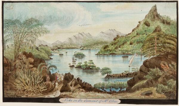 BELLASIS John Brownrigg (1806-1890) - 'Lake on the summit of Mt Aboo', Gujarat.