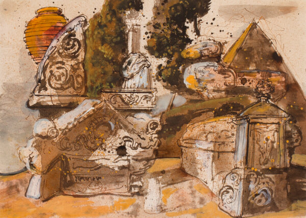 BERMAN Eugene (1899-1972) - Ruins of Antiquity.