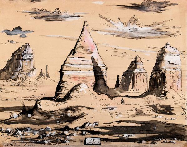 BERMAN Eugene (1899-1972) - 'Cathedral Rocks – Western Landscape'.