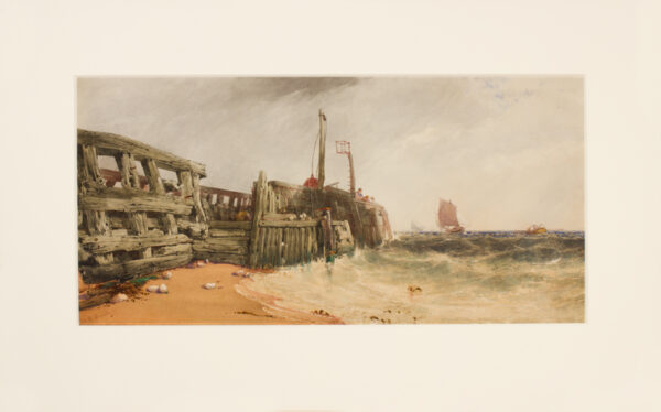 BEVERL(E)Y William Roxy (1811-1889) - Sussex; The old wooden pier at Newhaven.