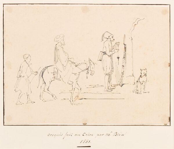 BIDA Alexandre (1823-1895) - 'Croquis fait au Caire par.
