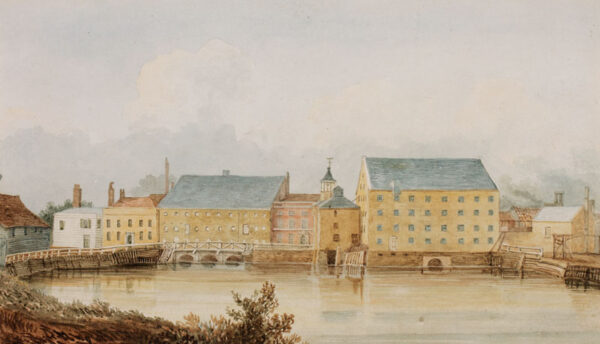 BIGOT Charles (Circa 1800) - A series of six watercolours recording East London canals, pubs and rivers.