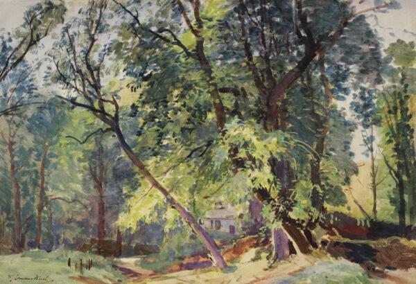 BIRCH Samuel John 'Lamorna' R.A. R.W.S. (1869-1955) - 'The Way to the Studio', Lamorna .