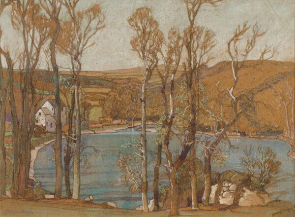 BIRCH Samuel John 'Lamorna' R.A. R.W.S. (1869-1955) - 'The Mill at Woodside'.