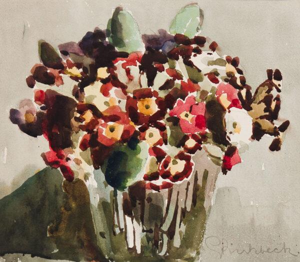 BIRKBECK Geoffrey (1875-1954) - 'Primulas'.