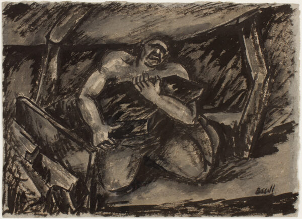 BISSILL George (1896-1973) - The Miner.