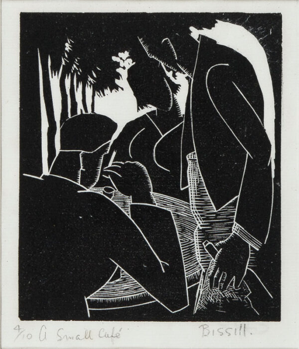 BISSILL George (1896-1973) - 'A Small Café'.