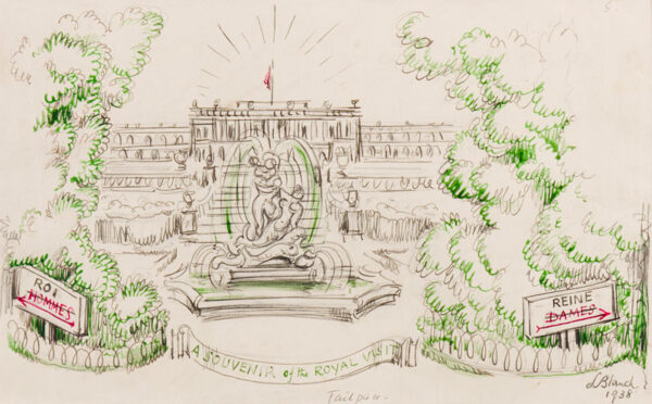 BLANCH Lesley M.B.E. (1904-2007) - Versailles: 'A Souvenir of the Royal Visit' to France in 1938.