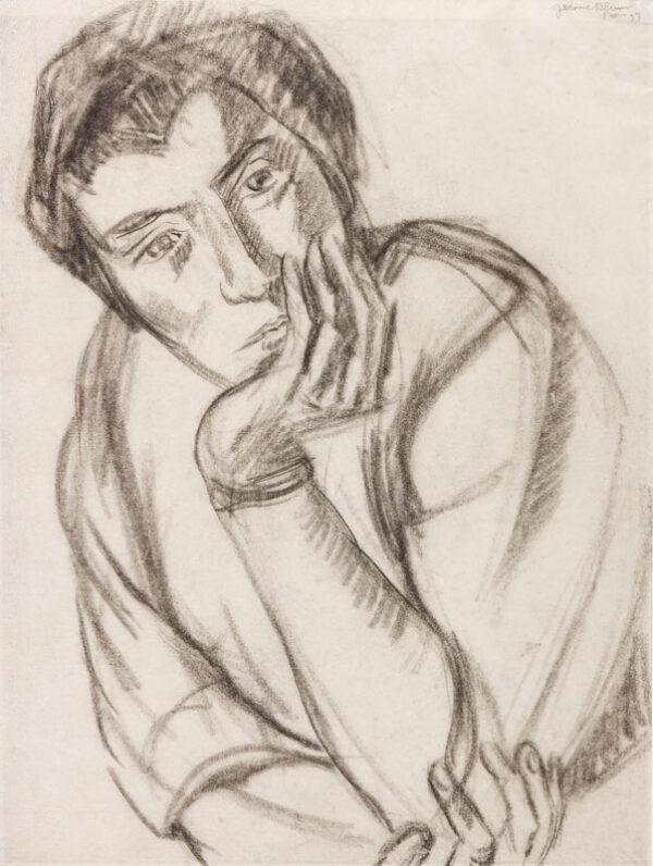 BLUM Jerome (1885-1956) - Portrait study.