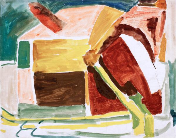 BOMBERG David L.G. N.S. (1890-1957) - Imaginative Composition: 'Bargee'.