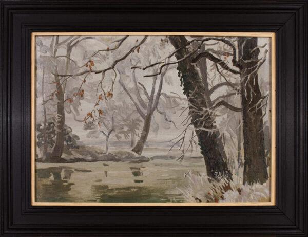 BONE Stephen N.E.A.C (1904-1958) - 'The River Leam, thaw'.